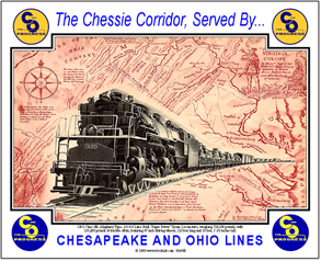 Tin Sign C&O Chessie War Corridor