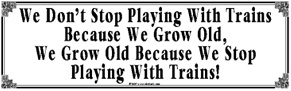 Tin Sign Grow Old
