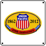 UP 150th Logo 6x6 Tin Sign