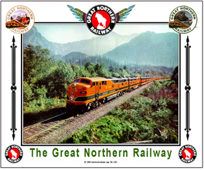 Tin Sign GN Empire Builder in Mtns