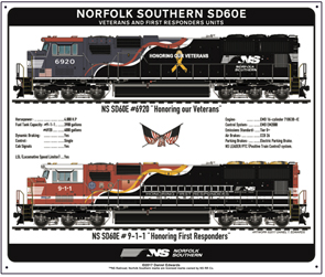 Tin Sign NS Military Salute Diesels