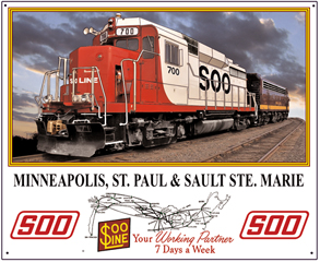 Tin Sign SOO GP30 diesel