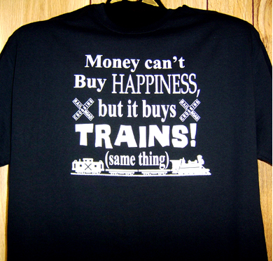 T-shirt Money Buys Trains