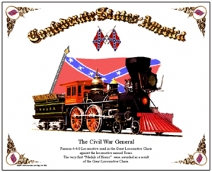 War Mouse Pad The General Locomotive
