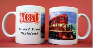 Coffee Mug NC&StL GP7 Freight