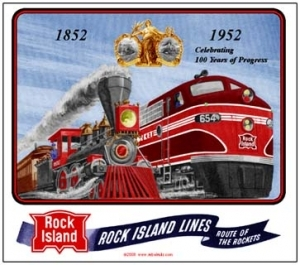 Mouse Pad Rock Island 100th Year