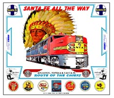 Mouse Pad Santa Fe Chief w/PA diesel