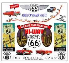 Mouse Pad Route 66 Colorful