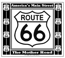 Mouse Pad Route 66 Black/White