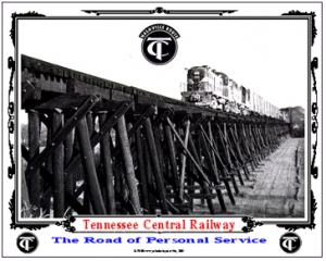 Tin Sign TC RS ALCO on trestle