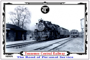 Tin Sign TC Passenger Train at Station