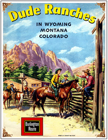 Tin Sign CBQ Dude Ranch Ad