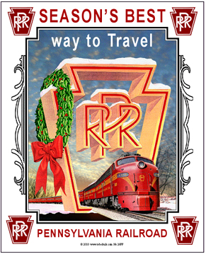 Tin Sign PRR Christmas Scene