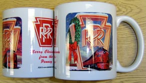 Coffee Mug PRR Christmas Logo Scene