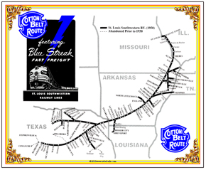 Tin Sign Cotton Belt MAP