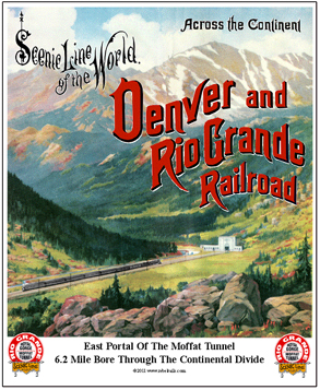 Tin Sign Rio Grande Moffat Tunnel