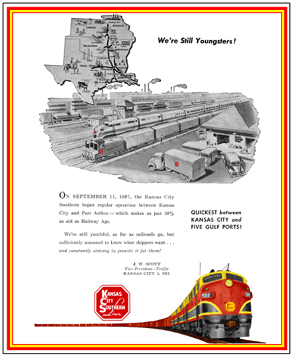 Tin Sign KCS Ad w/Map