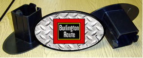 Hitch Cover Burlington Logo