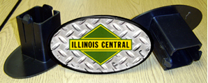 Hitch Cover Illinois Central Logo
