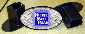 Hitch Cover Nickel Plate Logo
