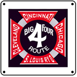 Big Four Logo 6x6 Tin Sign