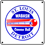 Cannon Ball Logo 6x6 Tin Sign