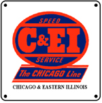 C&EI Logo 6x6 Tin Sign