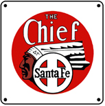 CHIEF Drumhead 6x6 Tin Sign
