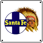 Chief with Logo 6x6 Tin Sign
