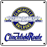 Clinchfield Logo 6x6 Tin Sign