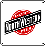 C&NW System Logo 6x6 Tin Sign