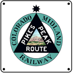 Colo Midland Logo 6x6 Tin Sign