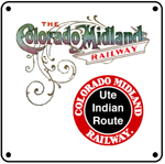 Colo Mid UTE Logo 6x6 Tin Sign