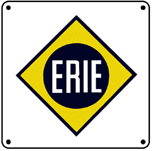 ERIE Logo 6x6 Tin Sign