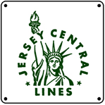 Jersey Central Logo 6x6 Tin Sign