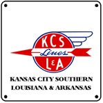 KCS-L&A Logo 6x6 Tin Sign