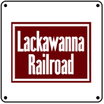 Lackawanna Logo 6x6 Tin Sign