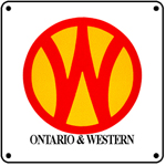 O&W Logo 6x6 Tin Sign