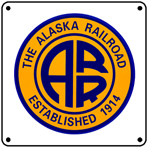Alaska Logo 6x6 Tin Sign