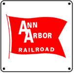 Ann Arbor Red Flag 6x6 Tin Sign