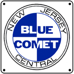 Blue Comet Logo 6x6 Tin Sign