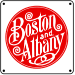 Boston Albany Logo 6x6 Tin Sign