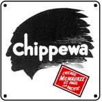 Chippewa Logo 6x6 Tin Sign