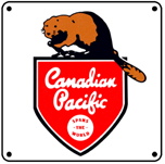 CPR Beaver Logo 6x6 Tin Sign
