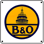 B&O Logo 6x6 Tin Sign