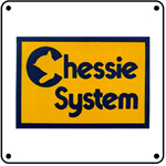 Chessie System Logo 6x6 Tin Sign