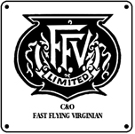 C&O FFV Logo 6x6 Tin Sign