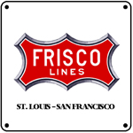 Frisco Red Logo 6x6 Tin Sign