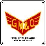 GM&O Logo 6x6 Tin Sign