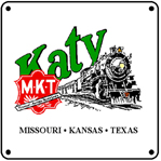 Katy Steam Logo 6x6 Tin Sign